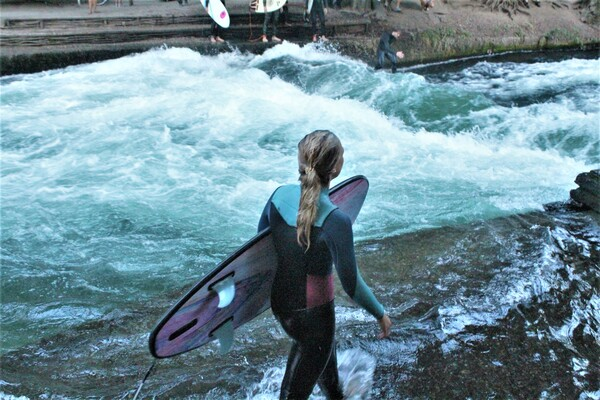 river-surfing